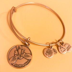 Alex and Ani God Daughter Bracelet in Gold